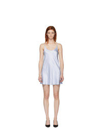 La Perla Blue Silk Short Slip Dress