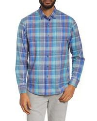 Light Blue Silk Long Sleeve Shirt