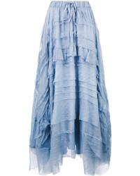 P.A.R.O.S.H. Layered Asymmetric Maxi Skirt