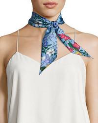 Gucci Flora Skinny Silk Scarf