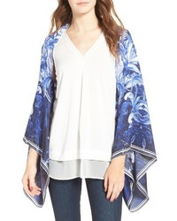 Ted Baker London Persian Blue Silk Cape Scarf