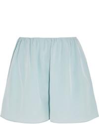 Elizabeth and James Jackie Silk Chiffon Shorts Light Blue