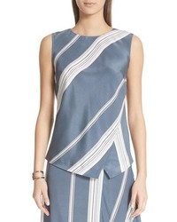 Light Blue Silk Sleeveless Top