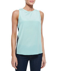Light Blue Silk Tank