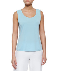Eileen Fisher Stretch Silk Jersey Tank Plus Size