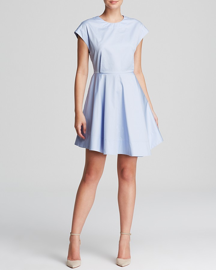 Tibi Dress Satin Poplin Fit And Flare - Where to buy & how to wear