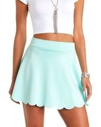 Light Blue Skater Skirt