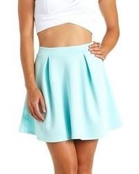 Blue High Waisted Skirt - Skirts
