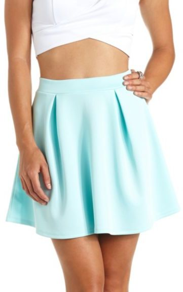 Charlotte Russe Pleated High Waisted Skater Skirt | Where to buy ...