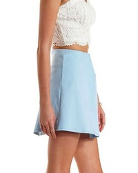 Baby Blue A Line Skirt - Dress Ala