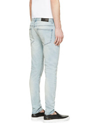 BLK DNM Blue Faded Skinny Jeans | Where to buy & how to wear