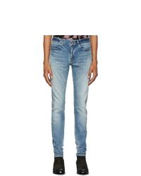 Saint Laurent Blue Skinny Low Waist Jeans