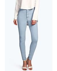 Boohoo Lara Bleach Wash Super Skinny Tube Jeans