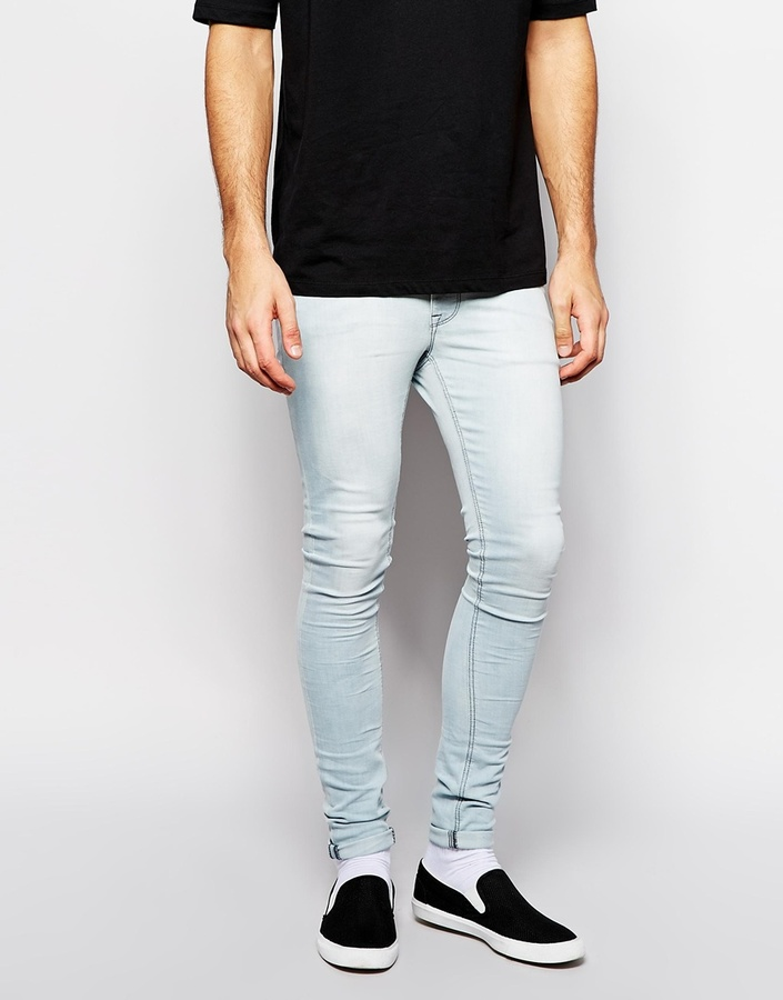 Asos Brand Extreme Super Skinny Jeans In Light Wash | Where to buy ...