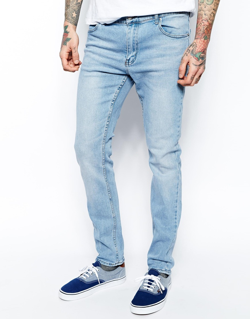 Cheap Monday Tight Jeans Skinny Fit In Stonewash Blue | Where to ...