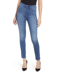Good American Good Legs Side Slit High Waist Skinny Jeans