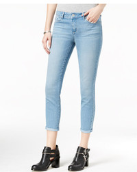 Jessica Simpson Juniors Forever Rolled Light Blue Wash Skinny Jeans
