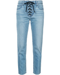 A.L.C. Lace Up Detail Skinny Jeans