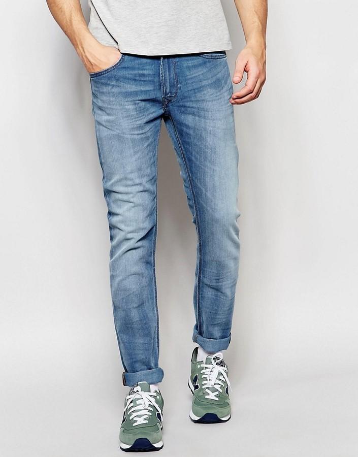 7b51795199f Lee Jeans Luke Skinny Fit Stretch Instinct Blue Light Wash, $138 ...