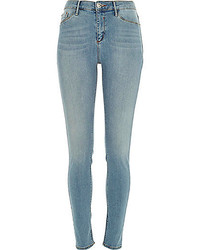 River Island Light Wash Molly Jeggings