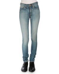 Saint Laurent Mid Rise Skinny Jeans Denim