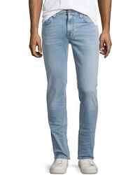 Nudie thin finn broken pale slim jeans light blue medium 703321