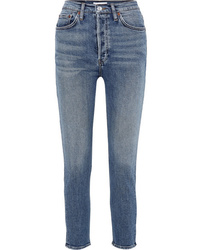RE/DONE Originals High Rise Ankle Crop Skinny Jeans