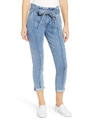 PROSPERITY DENIM Paperbag Waist Crop Skinny Jeans