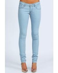 Boohoo Petite Clare Wow Bleach Super Skinny Jeans