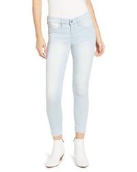 Tinsel Pinstripe Crop Skinny Jeans