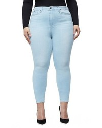 Good American Plus Size Good Waist High Waist Crop Skinny Jeans