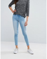 Only Royal Skinny Jeans With Raw Ankle Hem