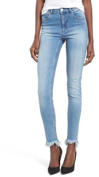 Cheap Monday Second Frayed Hem Skinny Jeans 90 Nordstrom Lookastic