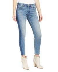 BLANKNYC Side Dye Ankle Skinny Jeans