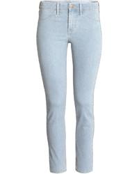 H&M Skinny Regular Ankle Jeans Denim Blue Ladies