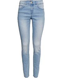 H&M Slim Fit Pants Dark Denim Blue Ladies