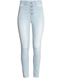 H&M Slim Fit Pants Denim Blue Ladies