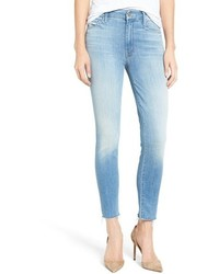 Mother The Looker High Rise Ankle Fray Skinny Jeans