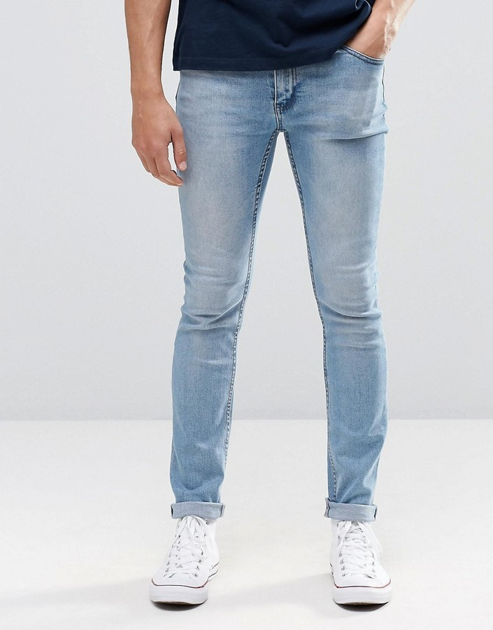0017ed419151d ... Light Blue Skinny Jeans Cheap Monday Tight Jeans Skinny Fit In  Stonewash Blue ...