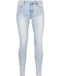 Topman Acid Wash Super Spray On Skinny Jeans