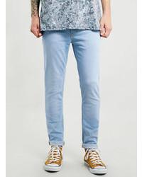 Topman Light Aqua Stretch Skinny Jeans