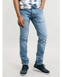 Topman Light Powder Blue Stretch Skinny Jeans