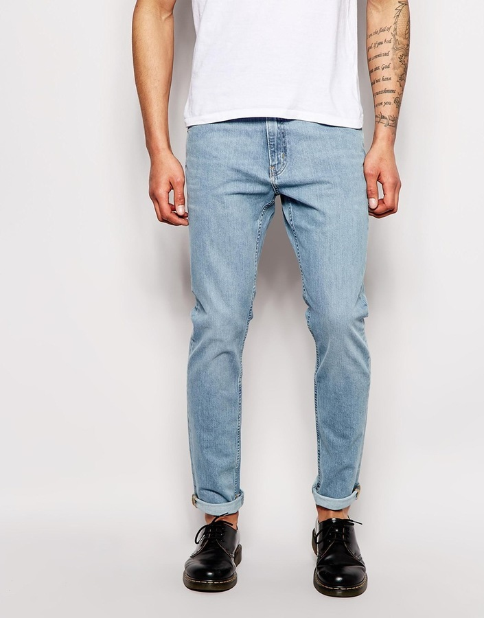sold worldwide super specials closer at $63, Weekday Jeans Friday Skinny Fit Fun Light Wash