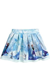 H&M Scuba Look Skirt Light Bluefrozen Kids