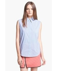 Light blue sleeveless button down shirt original 9063125