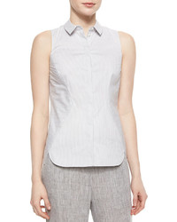 Lafayette 148 New York Elizabeth Sleeveless Striped Shirt