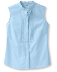 L l bean wrinkle resistant pinpoint oxford shirt sleeveless for Ll bean wrinkle resistant shirts