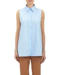 Acne Studios Poplin Sleeveless Shirt Blue