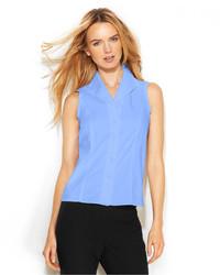 Calvin Klein Sleeveless Button Front Shirt