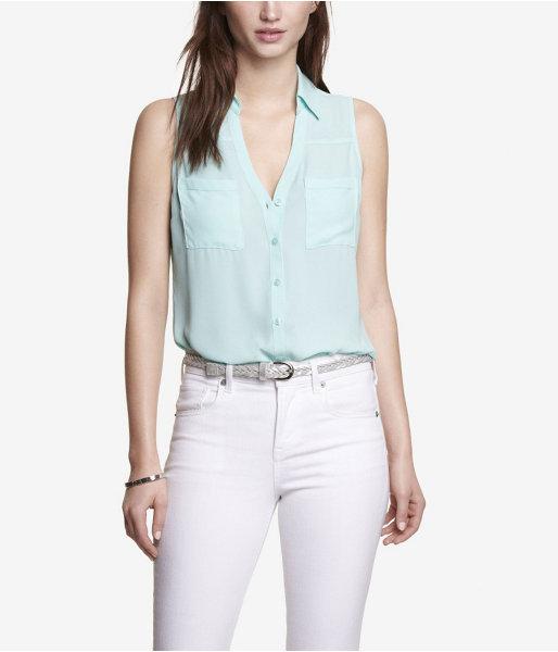 1142e816f1057 ... Express Sleeveless Cut Out Portofino Shirt ...